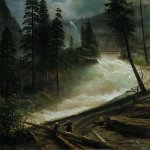 Albert Bierstadt (1830-1902)  Nevada Falls, Yosemite  Oil on canvas, 1872  30 x 39 inches (76.2 x 99.1 cm)  Private collection